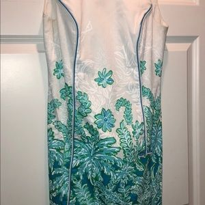 Lilly Pulitzer White & Blue Floral Dress